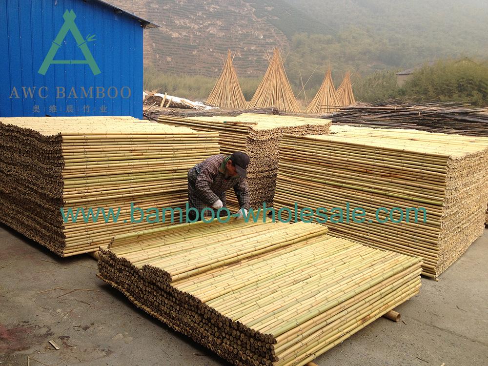 Recinzione di bambù naturale