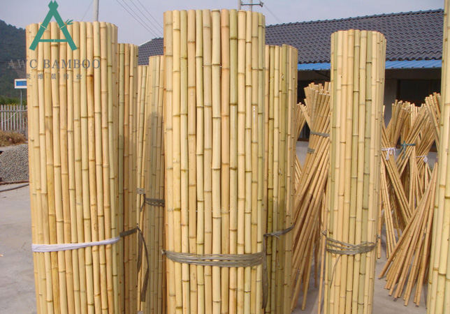 Build a Patio Bamboo Fence